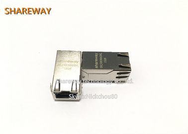China PHY RJ45 Ethernet Jack JK0-0133NL Single Port With Integrated Magnetics supplier