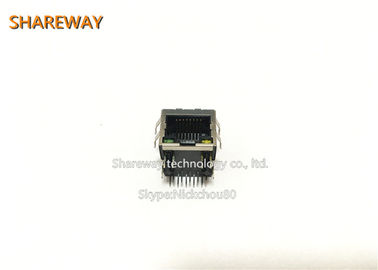 China 10 / 100 / 1000base T Ethernet Connectors Single Port J00-0086NL 8P8C Jack distributor