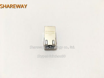 China J0G-0001NL Low Profile RJ45 Jack , Metal Shielded Integrated Connector Modules factory