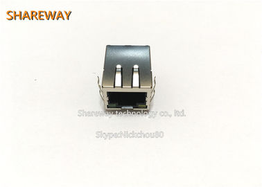 China Magnetic Low Profile Rj45 Jack JX0011D21NL For Industrial Applications distributor