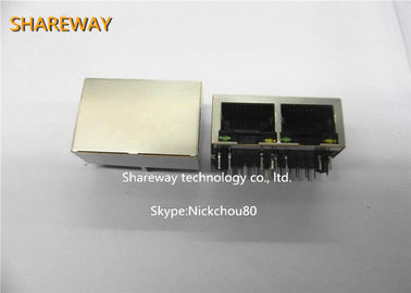 China RJ45 100base TX Connector Tab Up JG0-0031NL Meets IEEE 802.3 Specification distributor