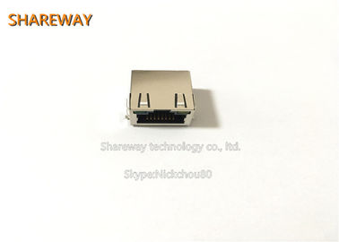 China Fully Shielded RJ45 Jack J0G-0003NL Vertical Mount THT Solder PIN factory
