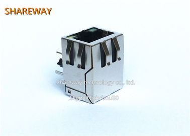 China JD0-0003NL All Plastic Rj45 Modular Jack With Finger And Double Lights factory