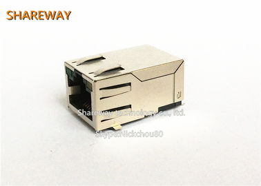 China Ethernet Magnetic Rj45 Female Connector 90 Degree Socket factory