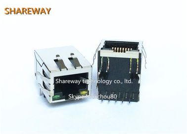 China Integrated PSE Magnetic RJ45 Jack Female Connector Jack factory
