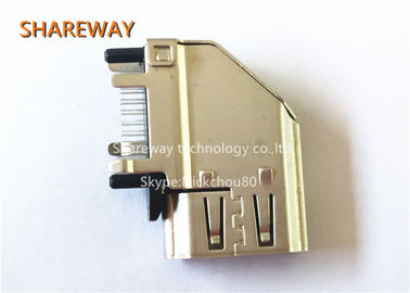 China Solder Pin HDMI Magnetic RJ45 Jack Displayport / DVI Connectors 2007435-1 With 19 Position factory