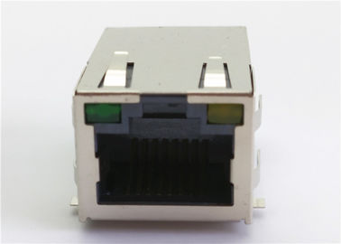 China Single Port RJ45 Magnetic Jack HR911105A 10 / 100 / 1000Baase With Module / LED factory