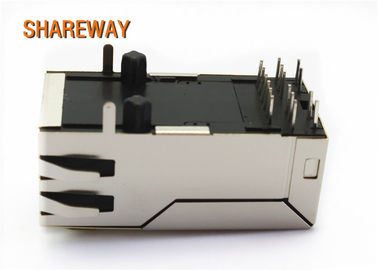 China Magnetic RJ45 Modular Jack 12 Pins 100 Base -T JXK0-0125NL POE/POE+ Application distributor